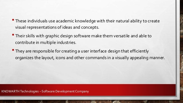 KNOWARTHTechnologies – Software Development Company KNOWARTH offers UI & UX development services with an aim to engage mor...
