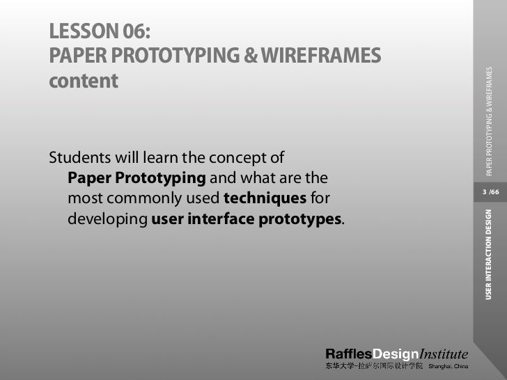 Paper Prototyping and Wireframes Slide 3