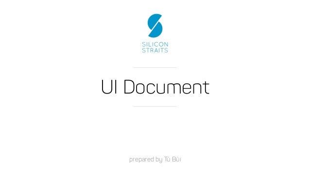 UI Document prepared by Tú Bùi