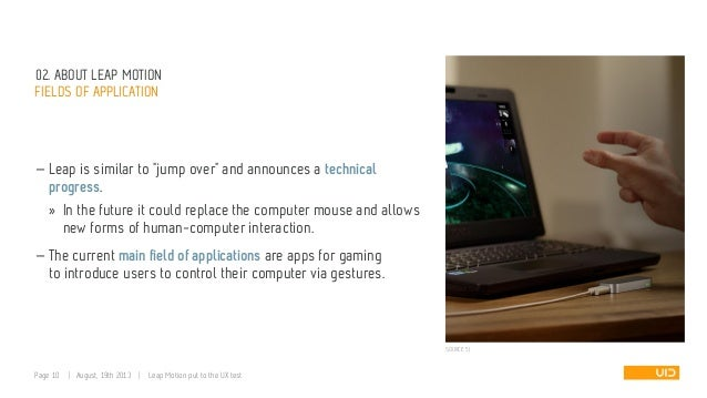 """02. ABOUT LEAP MOTION FIELDS OF APPLICATION — Leap is similar to """"jump over"""" and announces a technical progress. » In the ..."""