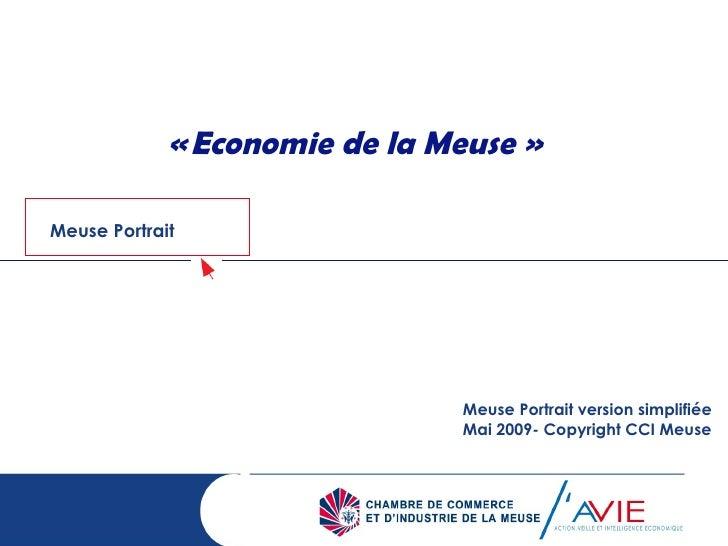 «Economie de la Meuse » Meuse Portrait version simplifiée Mai 2009- Copyright CCI Meuse