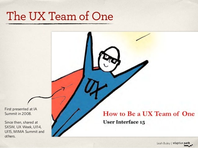 Lean Methods for the UX Team of One   UIE Virtual Seminar Preview Slide 2
