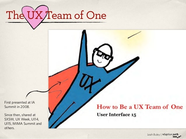 Lean Methods for the UX Team of One   UIE Virtual Seminar Preview Slide 3