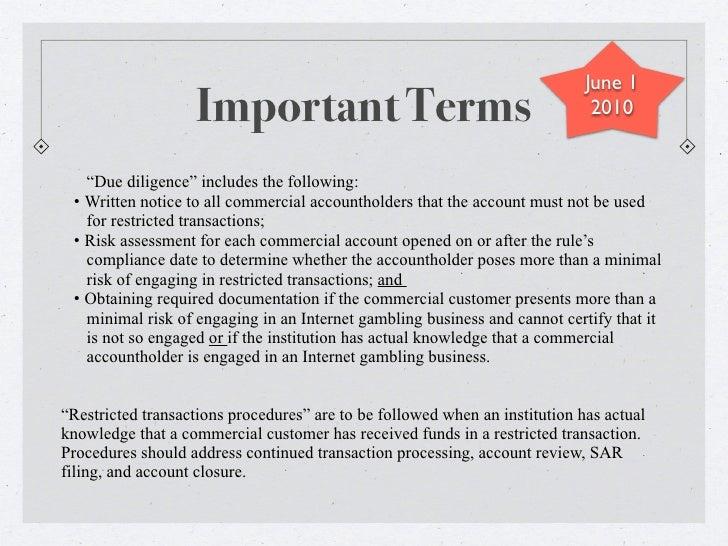Unlawful internet gambling enforcement act 2006 overview madison casinos