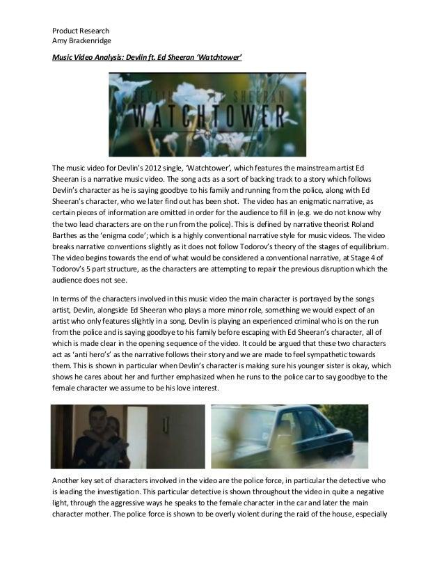 Music Video Analysis - Devlin 'Watchtower'
