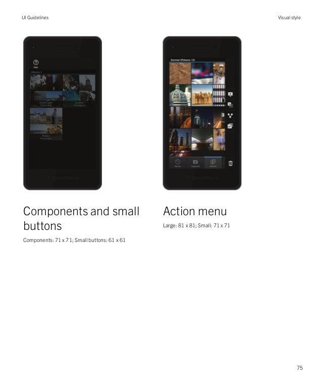 ui guidelines black berry 10 rh slideshare net Apple User Interface Style Guide Microsoft Modern UI Style Guide