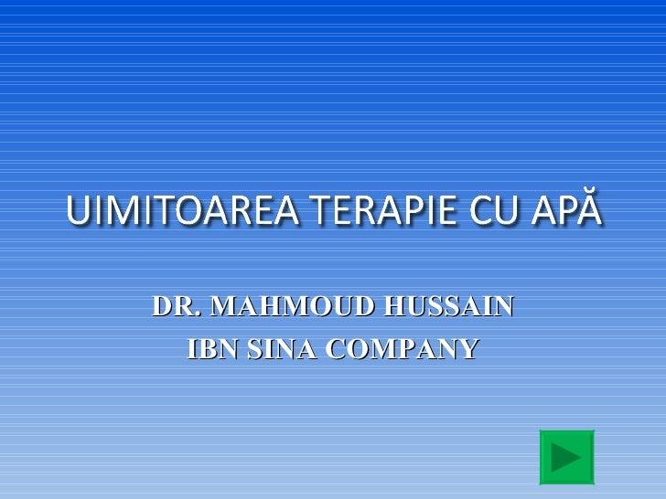 DR. MAHMOUD HUSSAIN IBN SINA COMPANY