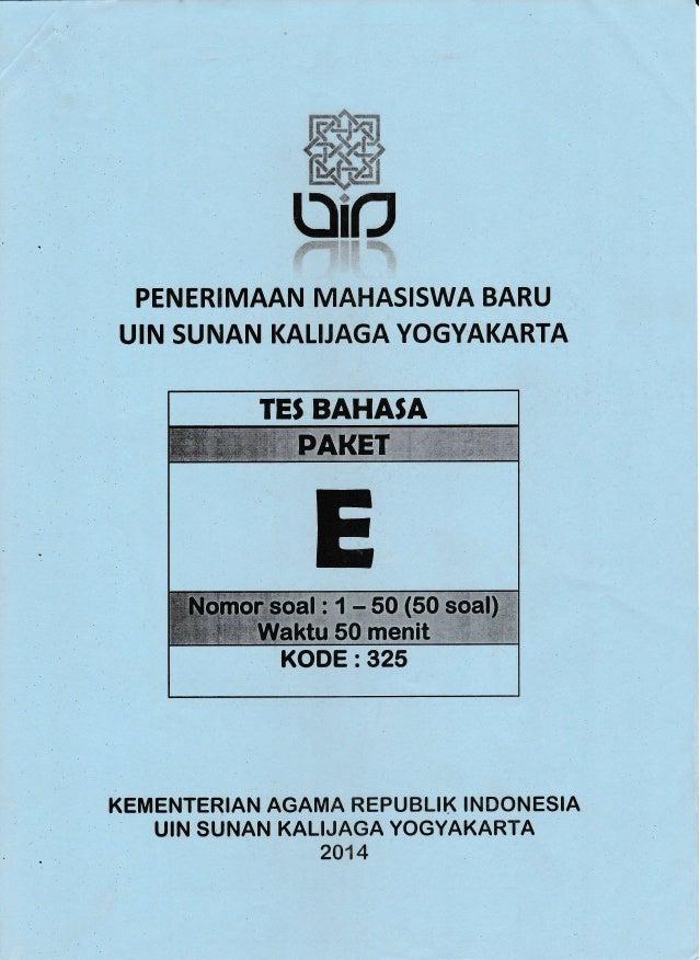 Uin Sunan Kalijaga Tes Bahasa Islamiyah 2014