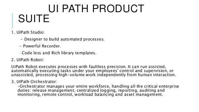 Ui path| RPA