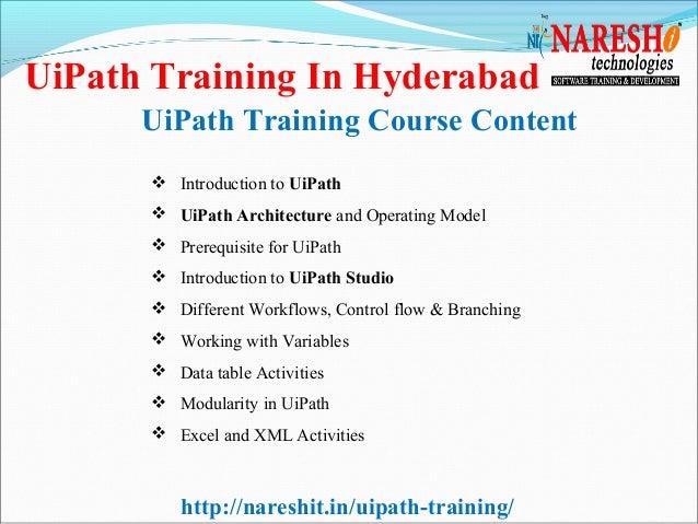 UiPath Training In Hyderabad-Best RPA Training Institute In Hyderabad