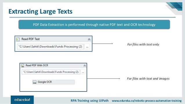 UiPath PDF Data Extraction | OCR Data Extraction | UiPath