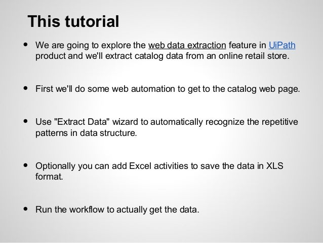 Ui path web data extraction