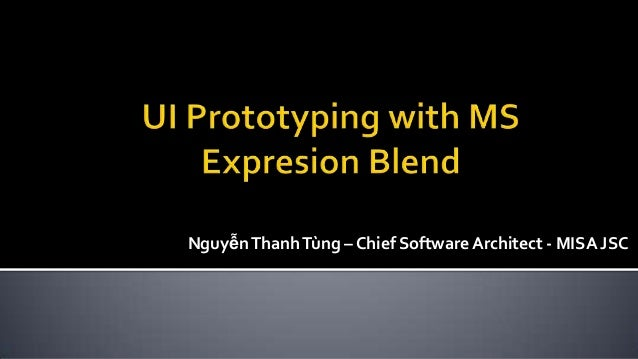 NguyễnThanhTùng – Chief Software Architect - MISA JSC