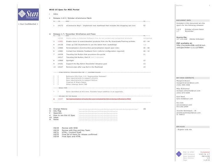 Section                              i                         WXD UI Spec for MSC Portal                         i      I...