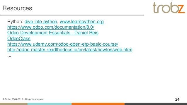 Uit trobz odoo programming overview - Dive into python ...