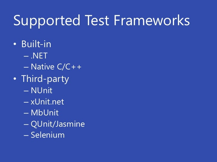 Unit testing, UI testing and Test Driven Development in