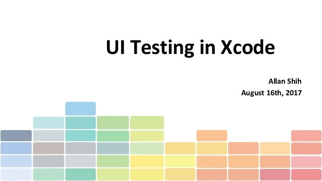 Ui testing in xcode