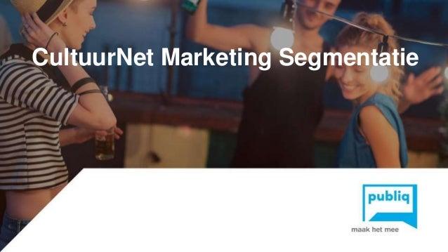 Click to edit Master title styleCultuurNet Marketing Segmentatie