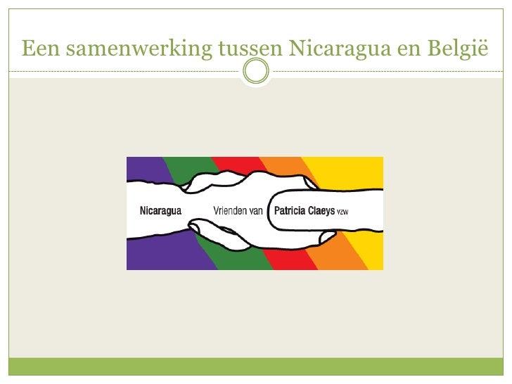 Een samenwerking tussen Nicaragua en België