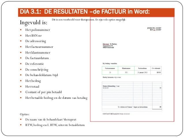 uitleg factuur Uitleg instructie factuur