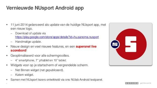 Vernieuwde NUsport Android app Slide 2