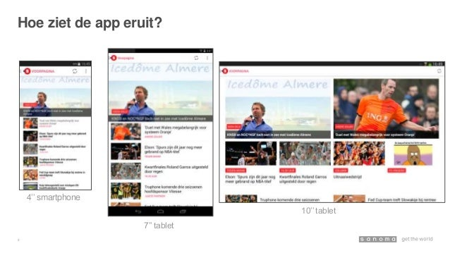 Vernieuwde NUsport Android app Slide 3