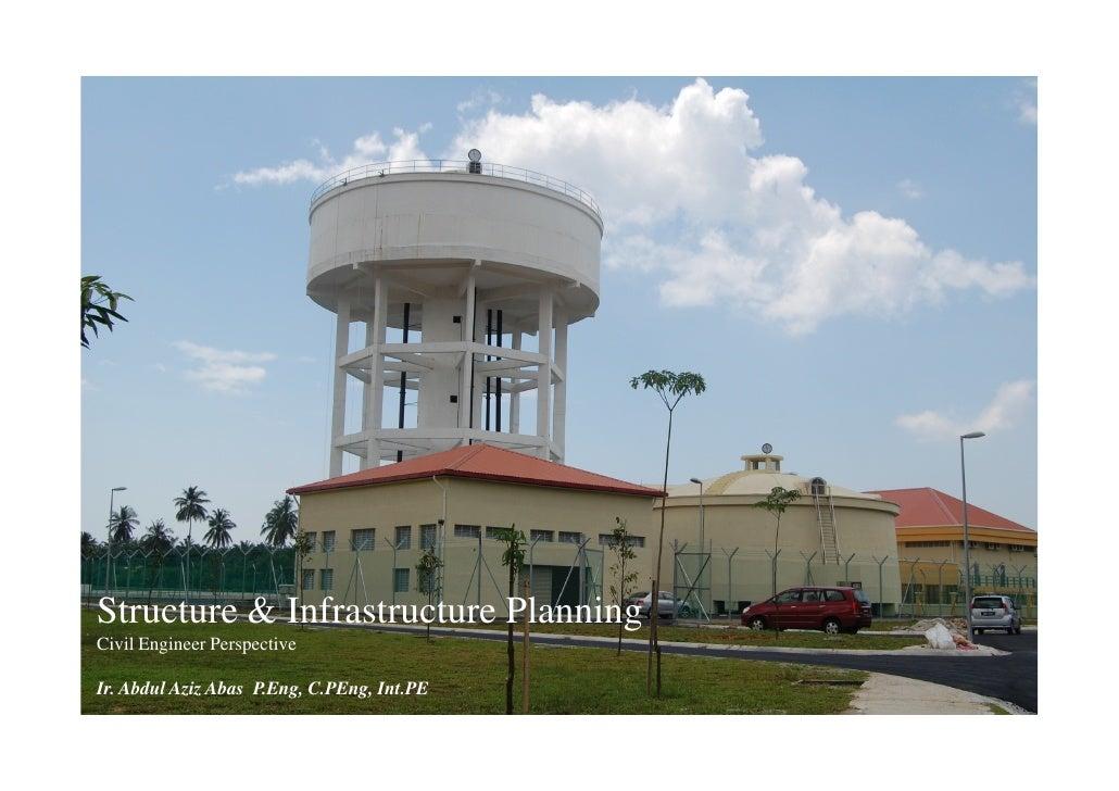 Structure & Infrastructure Planning Civil Engineer Perspective  Ir. Abdul Aziz Abas P.Eng, C.PEng, Int.PE