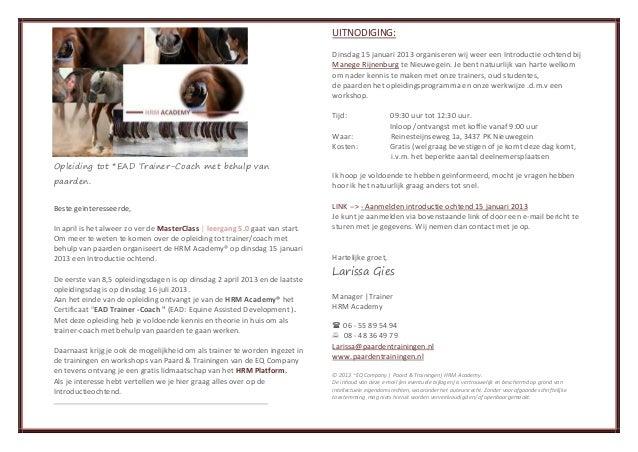 UITNODIGING:                                                                              Dinsdag 15 januari 2013 organise...