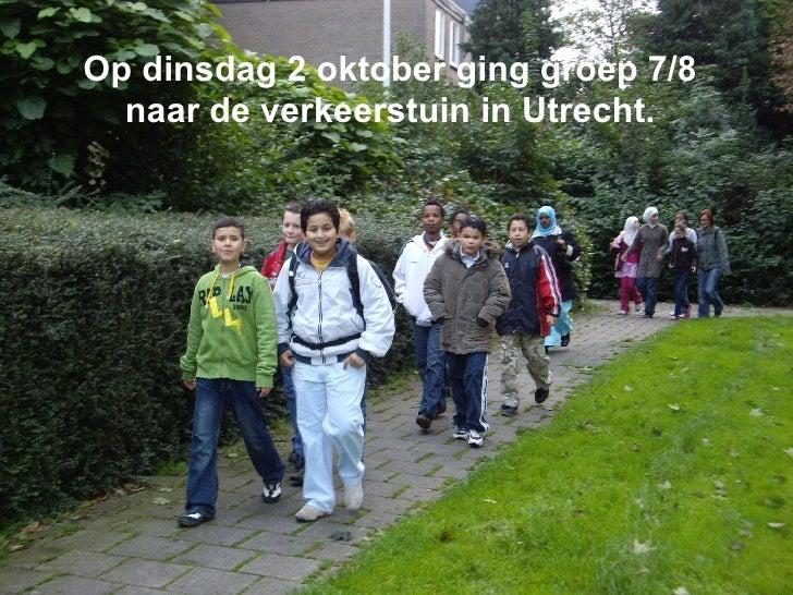 Op dinsdag 2 oktober ging groep 7/8 naar de verkeerstuin in Utrecht.