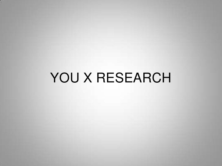 YOU X RESEARCH