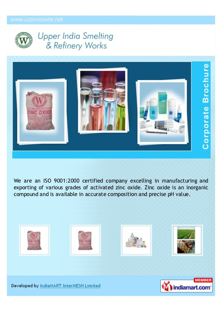 We are an ISO 9001:2000 certified company excelling in manufacturing andexporting of various grades of activated zinc oxid...