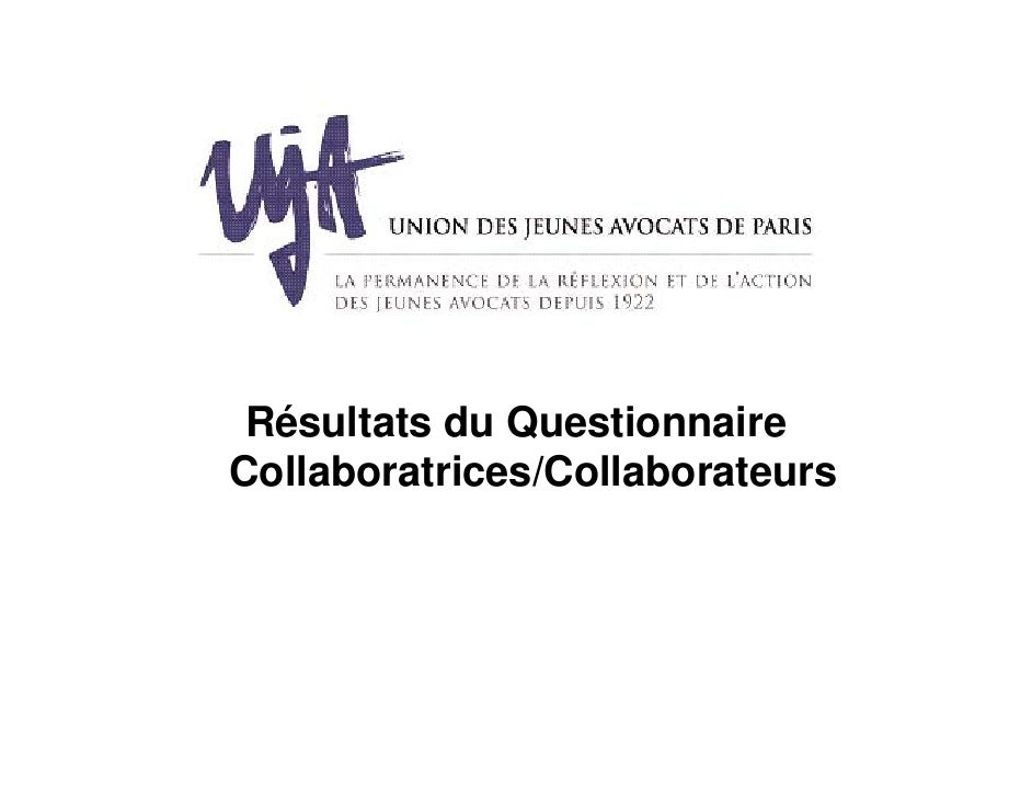Résultats du QuestionnaireCollaboratrices/Collaborateurs