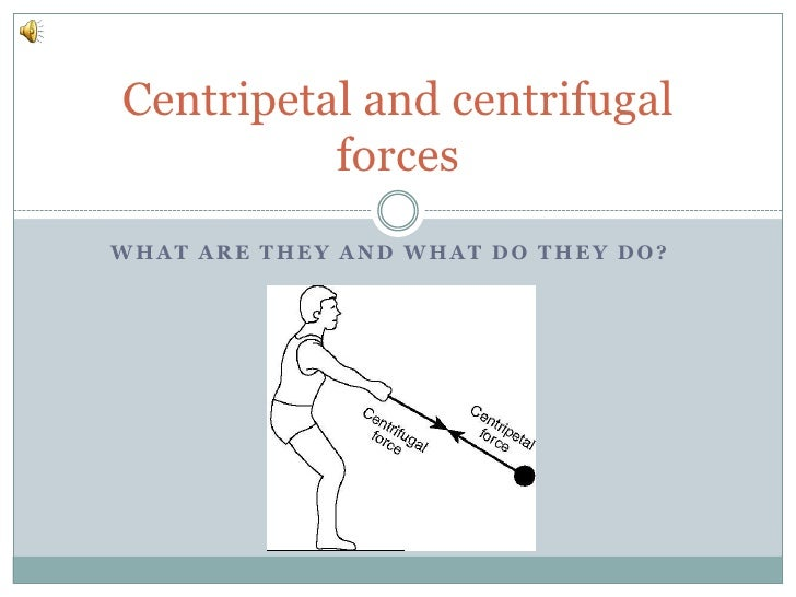What are they and what do they do?<br />Centripetal and centrifugal forces<br />