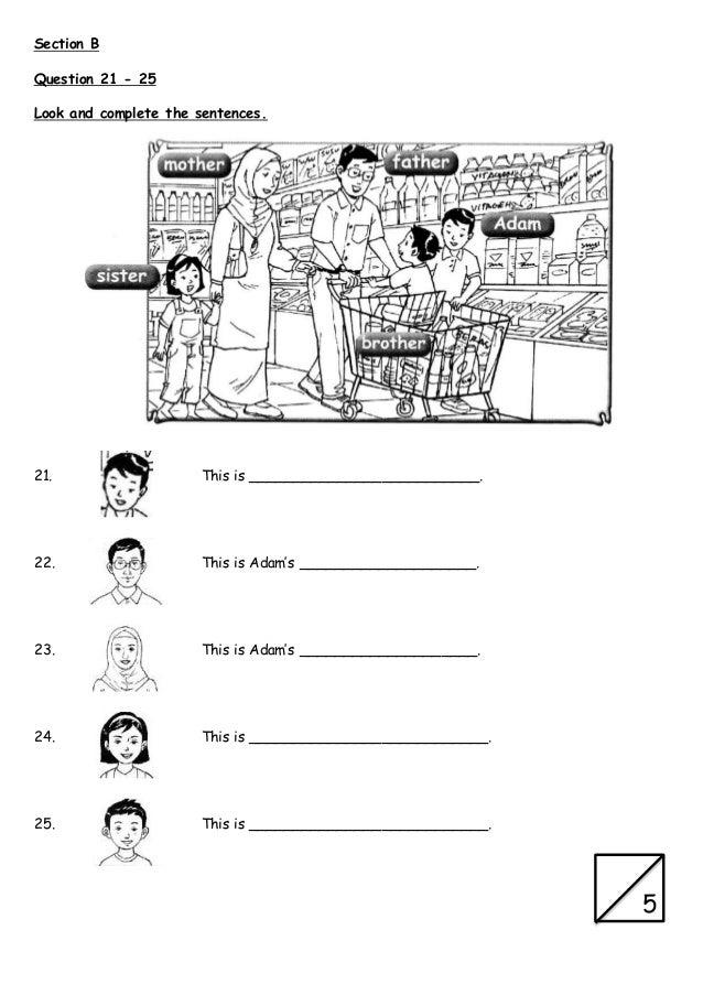 Ujian 1 english year 3 paper 1