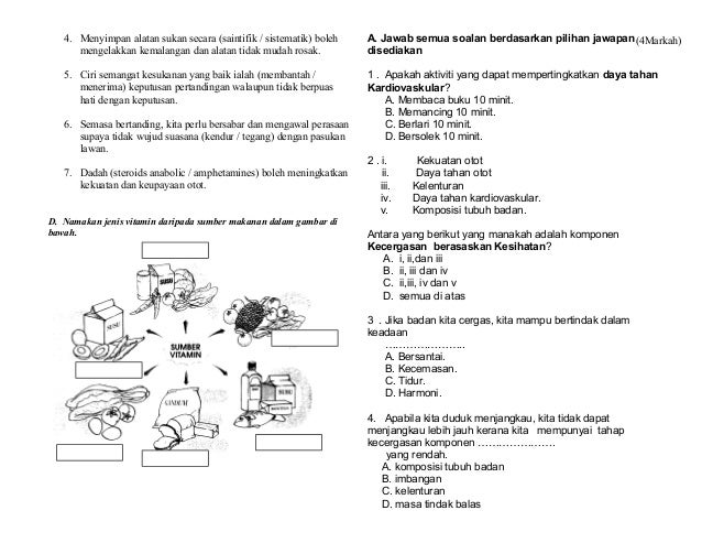 Ujian Pjk Tahun 5 Setengan Tahun 2013