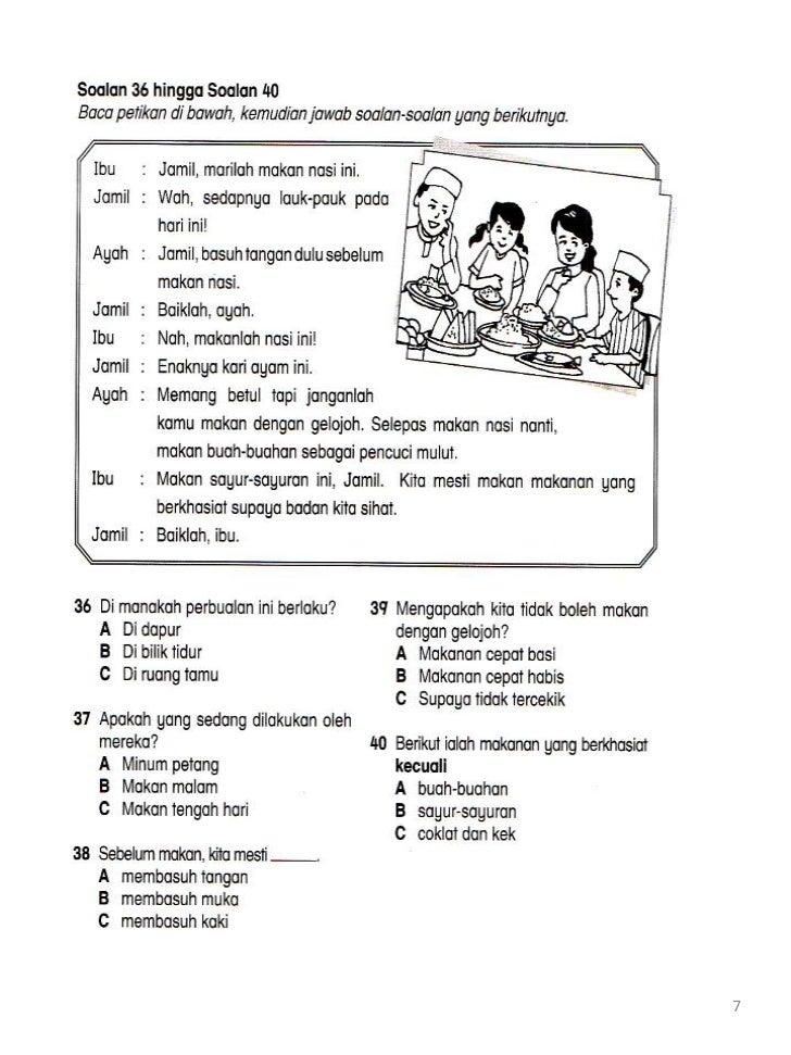 Soalan Bahasa Melayu Tahun 3 Dan Jawapan Terengganu N