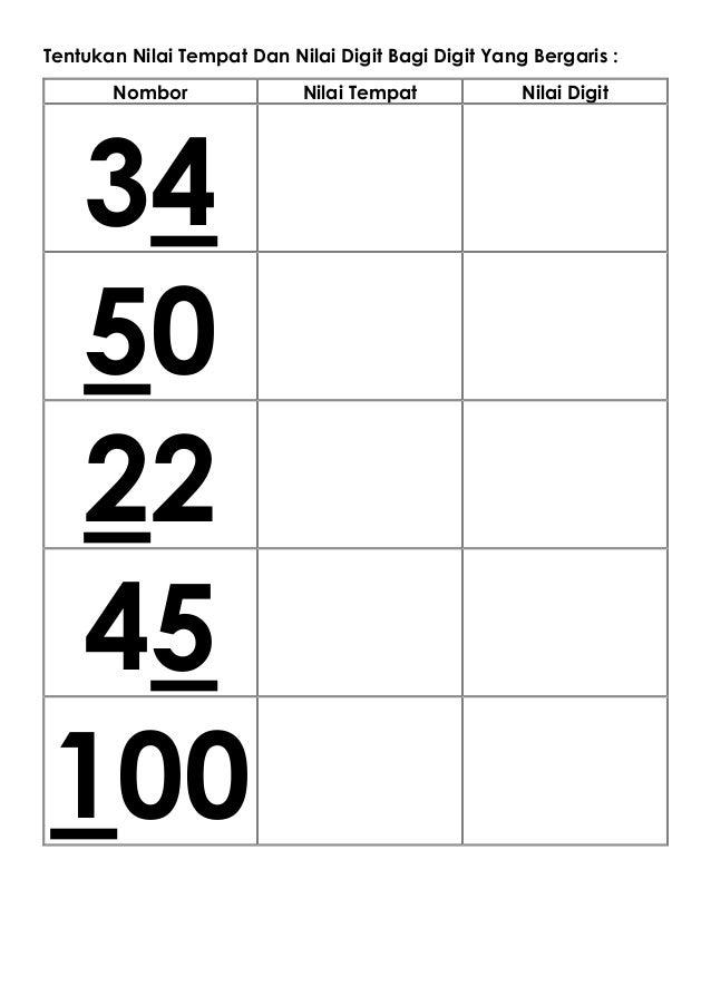 Ujian Pertengahan Tahun Matematik Tahun 1