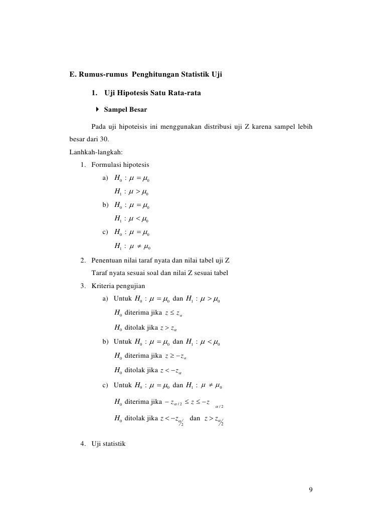 Uji Hipotesis 1 2 Rata Rata