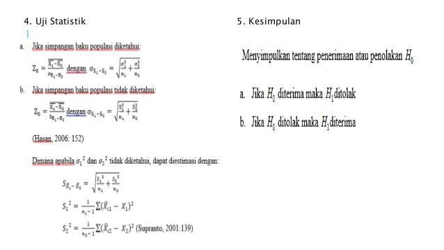 Contoh Hipotesis Uji T Tidak Berpasangan - Contoh Iko