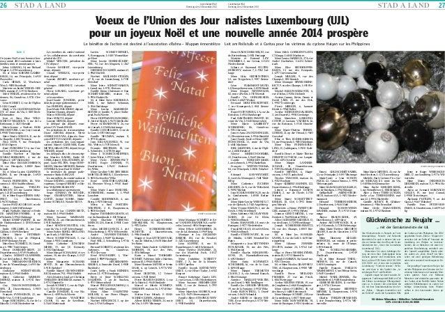 26  STA D A L A N D  Luxemburger Wort Dienstag, den 24 Dezember 2013  STA D A L A N D  Luxemburger Wort Dienstag, den 24 D...