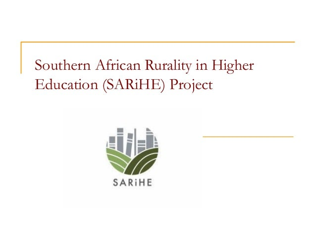 Southern African Rurality in Higher Education (SARiHE) Project