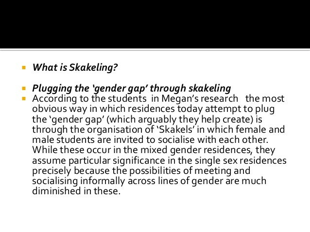  Contributing to polarization rather than social cohesion across lines of gender  While skakeling may be understood as a...