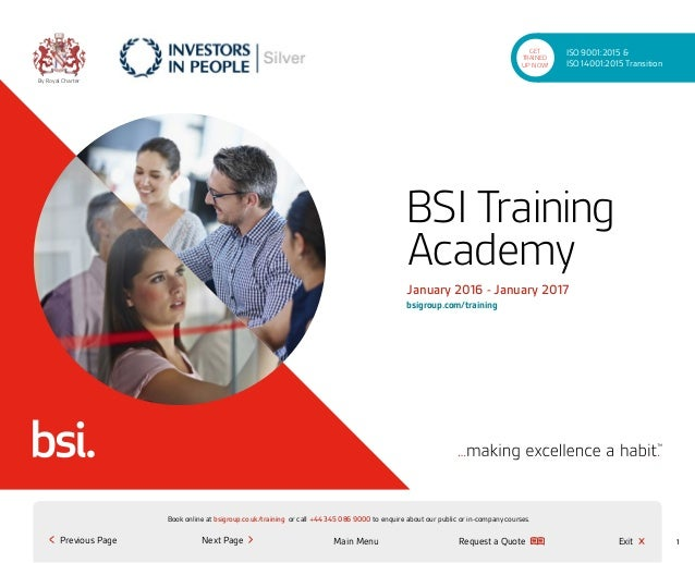 Request a Quote or call +44 345 086 9000 to enquire about our public or in-company courses.Book online at bsigroup.co.uk/t...