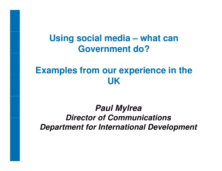 Using social media – what can          Government do?  Examples from our experience in the     p               p          ...