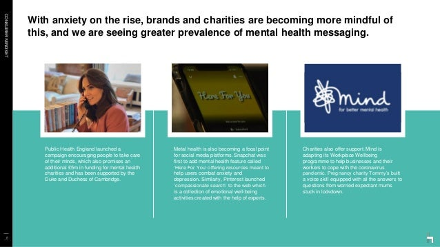 CONSUMERMINDSET With anxiety on the rise, brands and charities are becoming more mindful of this, and we are seeing greate...