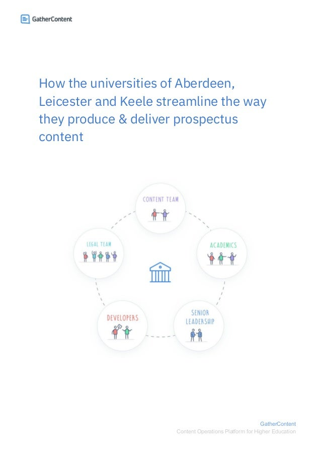 How the universities of Aberdeen, Leicester and Keele streamline the way they produce & deliver prospectus content ...