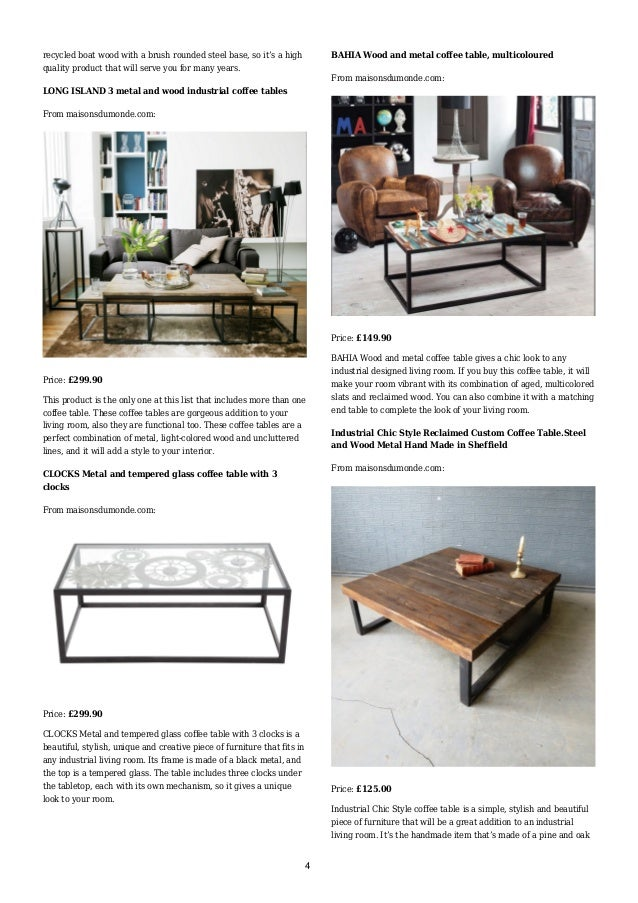The Coffee Table Is Made Of A Kiln Dried 3; 4. ...
