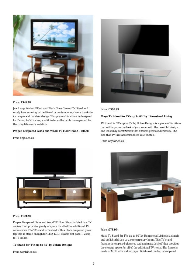 jual large walnut effect and black glass curved tv stand from argoscouk 8 9