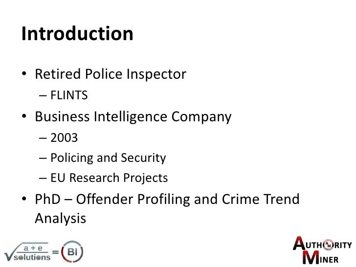 UK KDD Using Data Mining Techniques To Improve Efficiency In Police I…