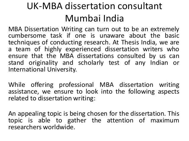 Mba dissertations uk